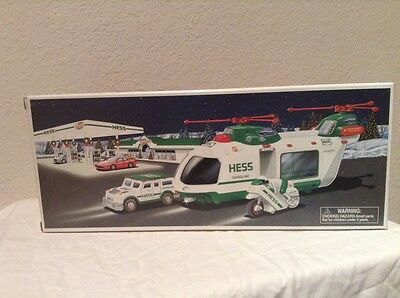HESS Helicopter with Motorcycle and Cruiser - New in Box