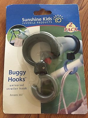 New Sunshine Kids Buggy Hooks Stroller Accessory Hooks 2 Pack