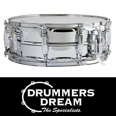 Ludwig 14 x 5 'Chrome Over Brass' Snare Drum Chrome Plated Brass Shell RRP $1259