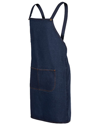 NEW JB's WEAR NAVY CROSS BACK DENIM APRON HOSPITALITY APRON CAFE RESTAURANT
