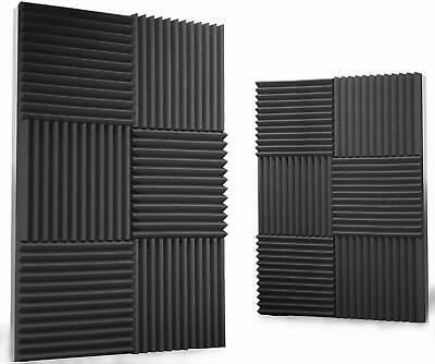 6 Pack Acoustic Wedge-studio Foam-absorption Wall Panels-1x12x12 Inches-USA.
