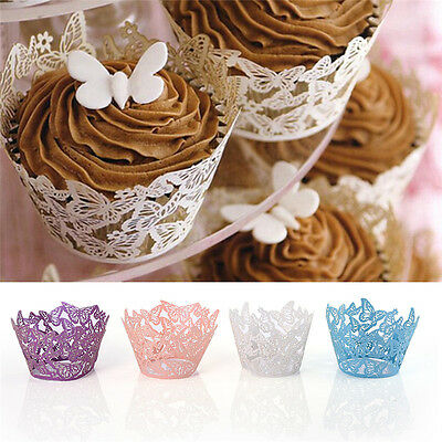 50PCS Cake Baking Paper Cup Cupcake Muffin Case Stand Home Wedding Party Decor