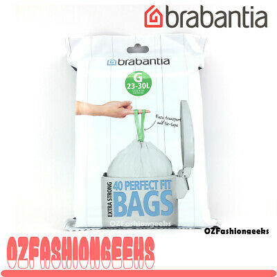 Brabantia Bin Liners G 30 Litre - 40 Waste Bags Strong Quality 06604 PI