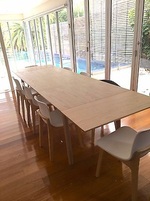 Dining Table & Extension Plates (2)