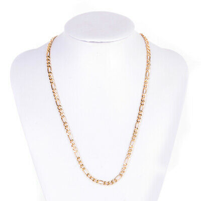 18K MENS WOMENS Yellow Gold Filled GF Chain Necklace 7MM Curb Cuban Link