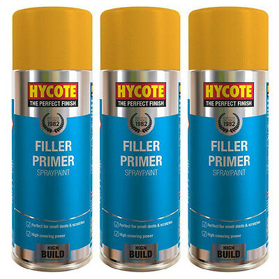 Hycote Yellow Filler Primer 3 Spray Cans Paint 400ml