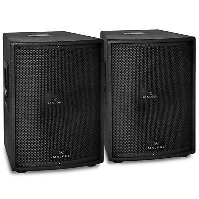 """Malone Pw-10A-T Powerful Dj Pa Speaker Pair Active Subwoofer 10"""" Sub 600W Rms"""