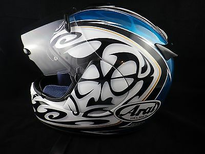 ARAI CHASER Casque Scream Liblaw MOTO-NOIR BRILLANT BLANC BLEU XL