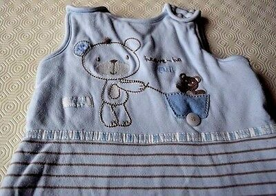 Baby Boy Cotton Sleeping Bag Age 0-6 Months Blue Bear Gro Heave Ho 2.5 Tog