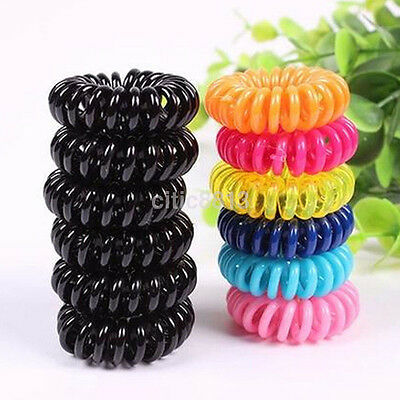 10pcs Women Lady Girl Elastic Rubber Hair Ties Band Rope Ponytail Holder Set au