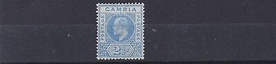 Gambia  1904 - 06    S G  60    2 1/2D   Bright Blue           Mh