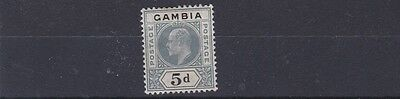 Gambia  1904 - 06    S G  63    5D   Grey & Black            Mh