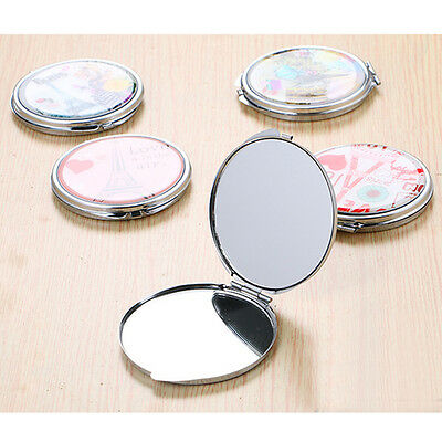 70mm Double Side Small Makeup Mirrors Hand Pocket Travel Mini Cosmetic Mirror