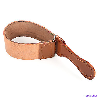 2017 Convinent Cow Leather Strop Belt Straight Razor Sharpening Tool Palm Hot