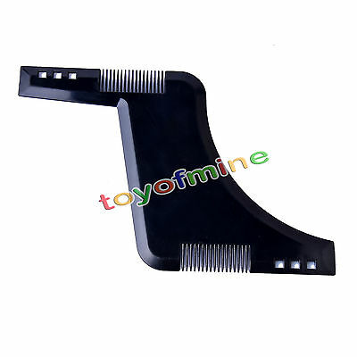 New Beard Shaping Tool Styling Template Shaper Comb Trim Facial HairCare Barber