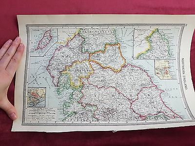 "Antique Map 1906..""Northern England""..."