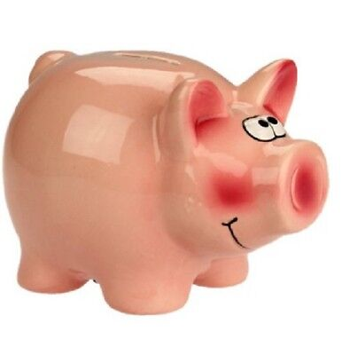 Money Pig ~ Fund/Savings/Piggy Bank Ceramic with lock ~ PIGGY