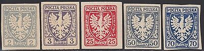 1919 Poland Eagle Shield Pkl Fischer Identified Forgery Rare !