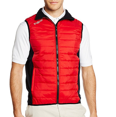 Proquip Men's Therma Tour Gilet - Full Zip - Quilted Gilet - Red - XXL - Golf