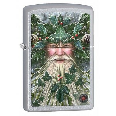 "Zippo ""Anne Stokes-Christmas Spirit"" Satin Chrome Lighter,  2434"