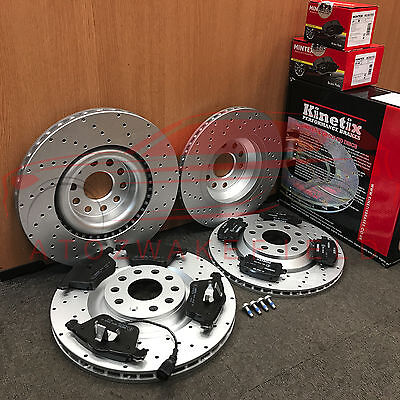 For Vw Scirocco R Front And Rear Kinetix Performance Brake Discs Mintex Pads Kit