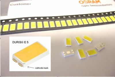 500 Stück / 500 pcs OSRAM DURIS E5 LED 5700K CRI85 GW JDSMS1.EC 0.5W 5630 5730