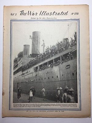 THE WAR ILLUSTRATED: WWII MAGAZINE: 1941: No 116: Indian Troops Arrive Singapore