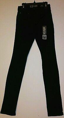 Hot Topic Social Collision Black Low Rise Skinny Jeans Rude Fit 24 X 32 - Nwt