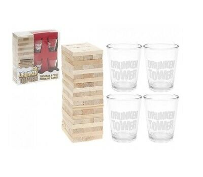 Adult Novelty Shot Drinking Game Drunken Tumbling Tower 2-10 Player 60 Blocks