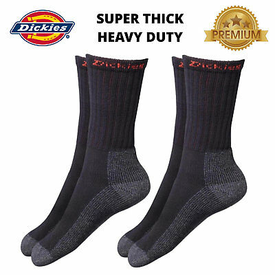 Dickies Mens Work Socks Industrial - Thick Heavy Duty -TWIN PACK - One Size 7-11