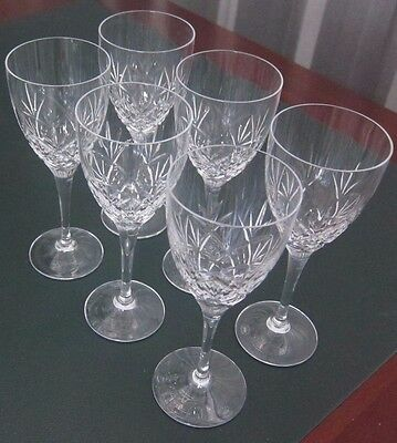 Royal Doulton Luxurious Crystal Wine Glasses Set of 6 - edc