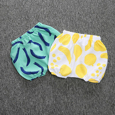 Cute Baby Boys Girl Kid Diaper Cover Bloomers Cotton Baggy Shots Pants Bottoms