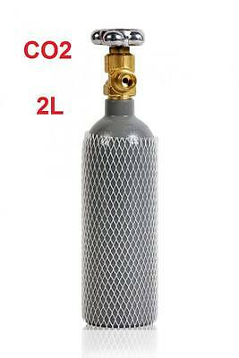 CO2 Gas Bottle Cylinder 100% FULL 1.5KG 2 Liter 200 Bar Pure Gas Welding NEW