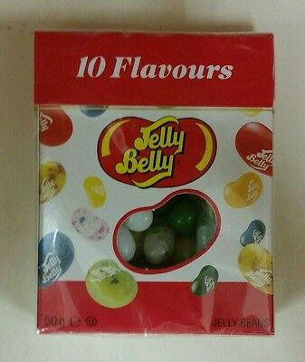 2 Packs of 50g Jelly Belly Jelly Beans 10 Flavours NEW