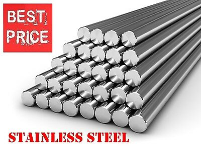 STAINLESS STEEL Round Bar Steel Rod - GRADE 304 - Various Size - 1 meter LONG !!