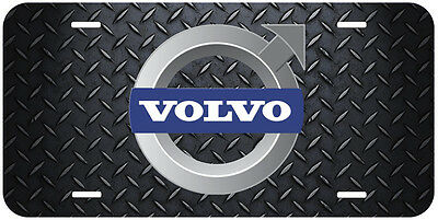 Volvo Aluminum Novelty Car License Plate Black-White-Yellow-Gold-Silver