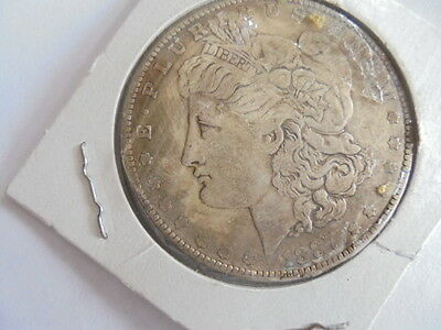 1887 Morgan Coin One Dollar Never Released By Mint-Looks Silver Novelty