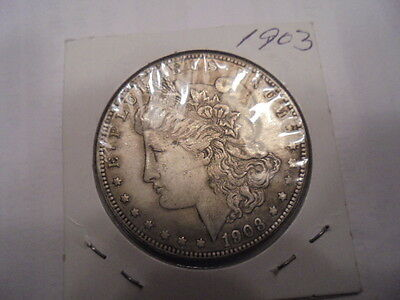 1903 Morgan Coin One Dollar Never Released By Mint-Looks Silver Novelty