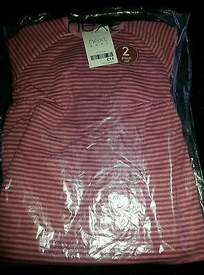 BNWT NEXT PINK STRIPE DRESS TOP AND LEGGINGS BABY GIRL 9-12 MONTHS lovely