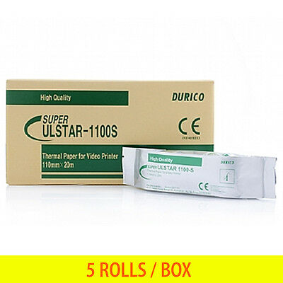 Ultrasound Thermal Printer Paper Durico High Quality Print ULSTAR 1100S 5 ROLLS