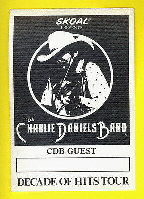 Charlie Daniels Band 1983 backstage pass Daniels' GUEST mint & unused