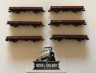 Bachmann Graham Farish - N Gauge - Br Railfreight Spa Red Wagons X 6 - U/b