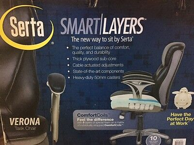 Fine Serta Smart Layers Verona Manager Chair Black Silver Pabps2019 Chair Design Images Pabps2019Com