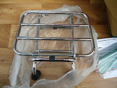 Genuine Piaggio Vespa PX Front Rack Luggage Carrier Branded New in Bag
