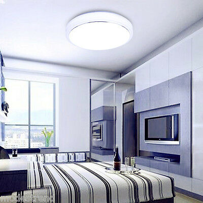 18W Round LED Ceiling Light Flush Mount Fixture Down Lamp Living Room Fitting US