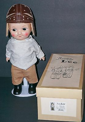 Buddy Lee hard plastic Doll Football Player with Box Hard to Find