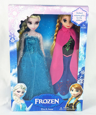 2pcs Frozen Princess Elsa Anna Olaf Sven Kristoff Hans Doll Girl Set  Toy gift