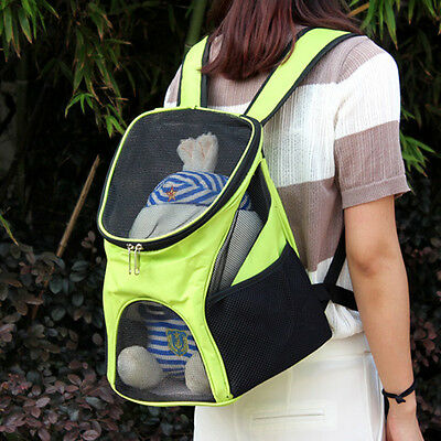 Mesh Head Pet Cat Dog Puppy Travel Carrier Front Backpack Handbag Shoulder Bag