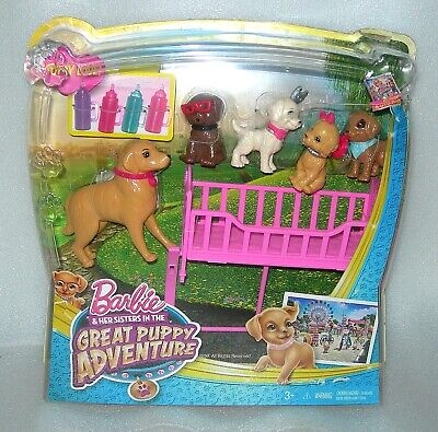 Barbie & Her Sisters Great Puppy Adventure Dog & Puppies Playset - NIP