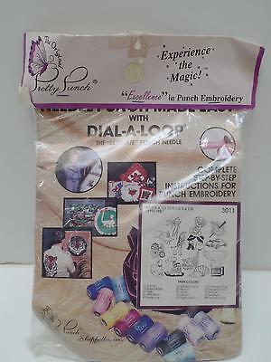 Pretty Punch Dial-A-Loop Embroidery Kit 3011 Patterns Yarn Animals Flowers New